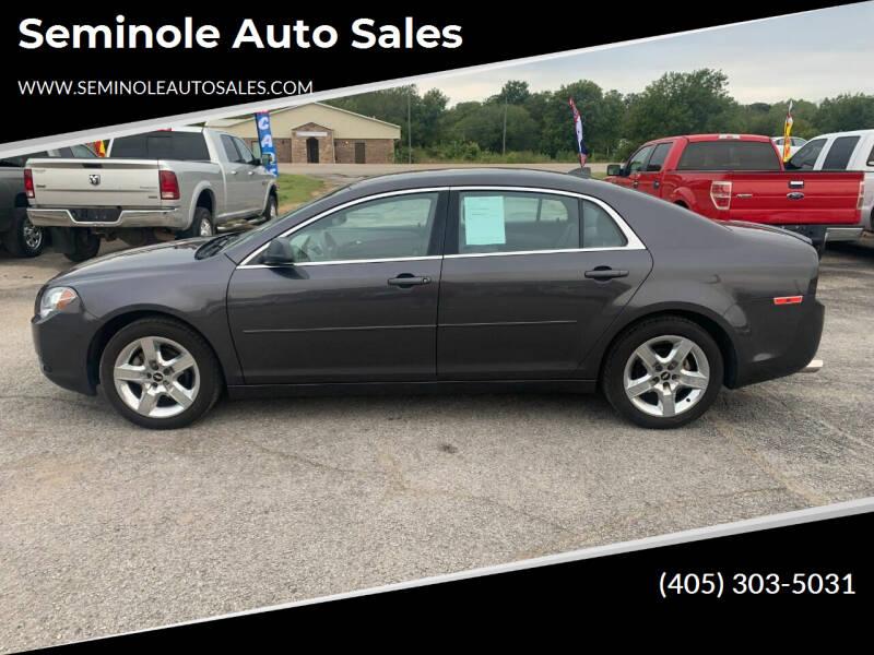 2012 Chevrolet Malibu for sale at Seminole Auto Sales in Seminole OK