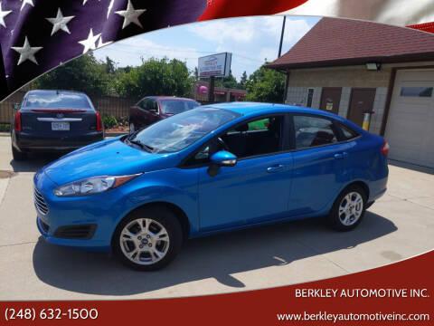 2016 Ford Fiesta for sale at Berkley Automotive Inc. in Berkley MI