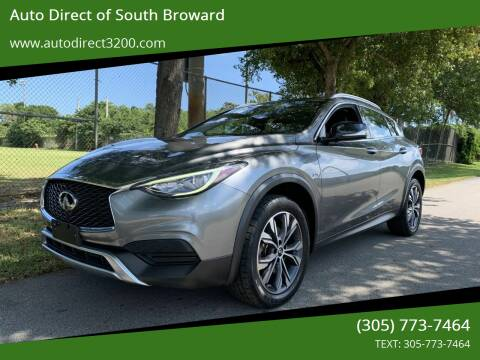 2017 Infiniti QX30 for sale at Auto Direct of South Broward in Miramar FL