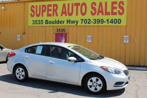 2015 Kia Forte for sale at Super Auto Sales in Las Vegas NV