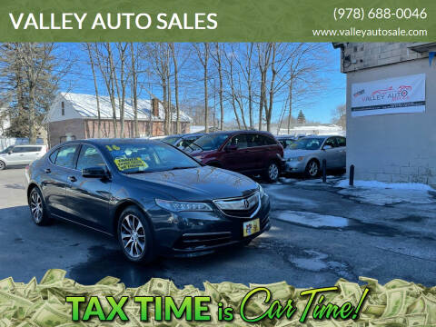 2016 Acura TLX for sale at VALLEY AUTO SALES in Methuen MA