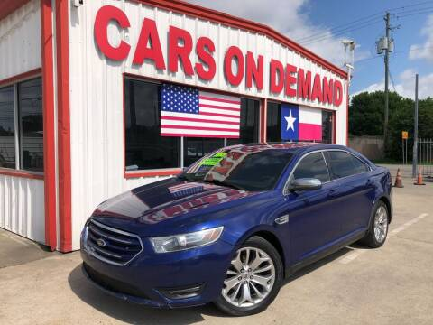2013 Ford Taurus for sale at Cars On Demand 3 in Pasadena TX