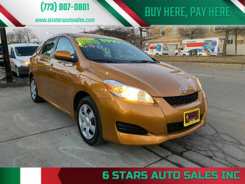 2010 Toyota Matrix for sale at 6 STARS AUTO SALES INC in Chicago IL