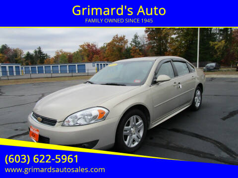 2011 Chevrolet Impala for sale at Grimard's Auto in Hooksett, NH