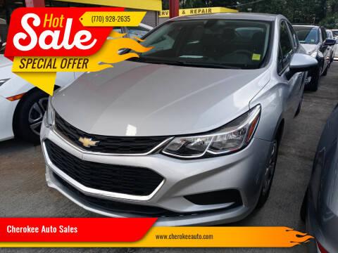 2016 Chevrolet Cruze for sale at Cherokee Auto Sales in Acworth GA