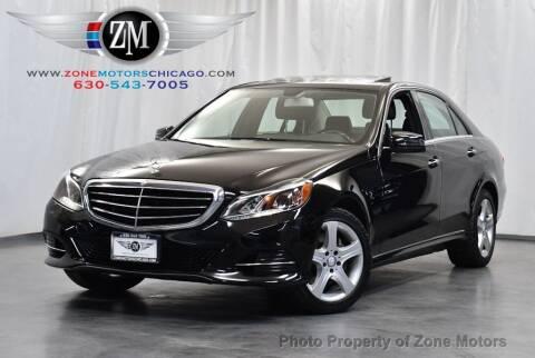 2014 Mercedes-Benz E-Class for sale at ZONE MOTORS in Addison IL