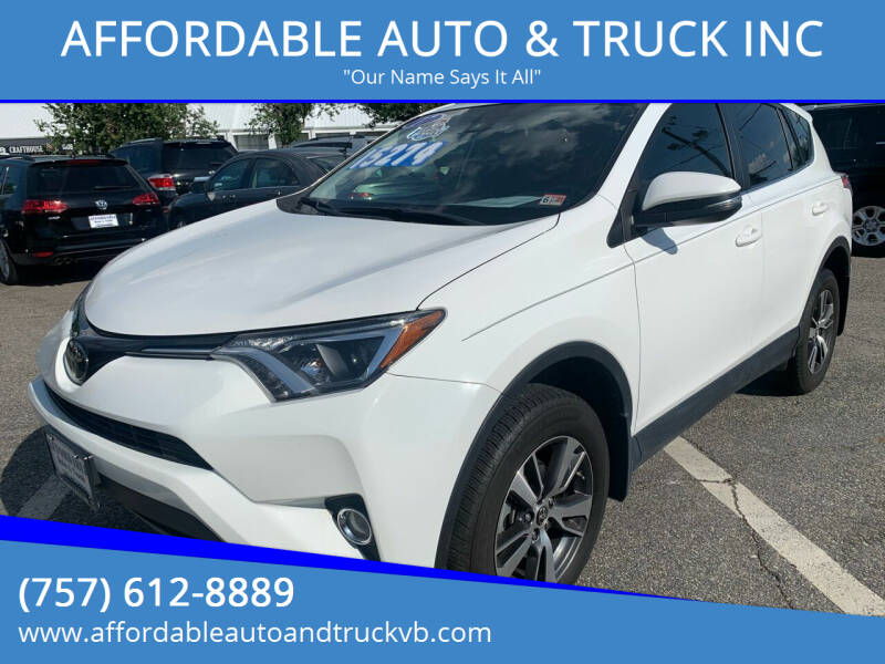 2017 Toyota RAV4 for sale at AFFORDABLE AUTO & TRUCK INC in Virginia Beach VA