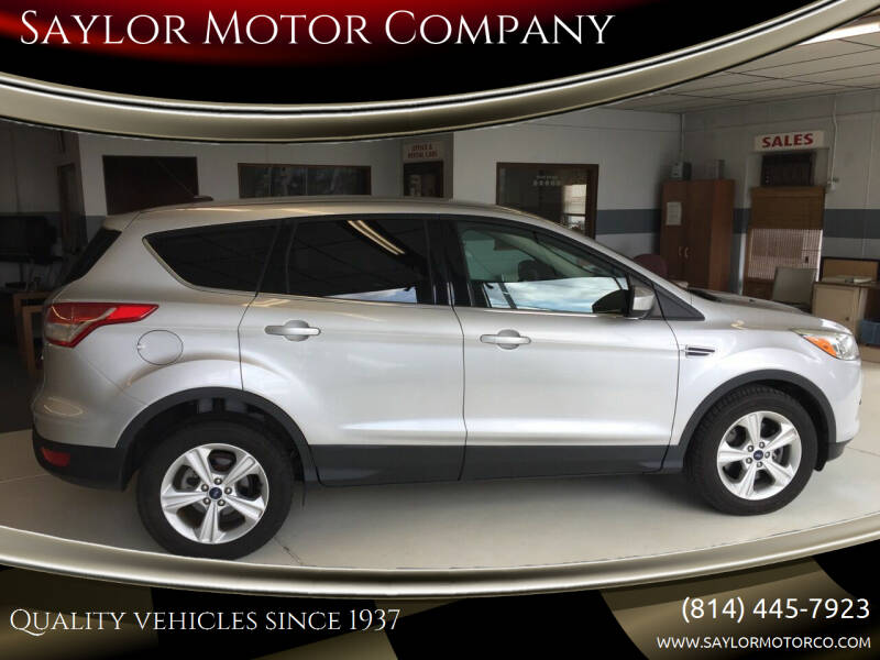 2014 Ford Escape for sale at Saylor Motor Company in Somerset PA