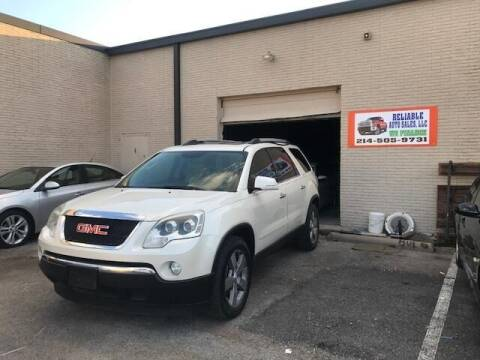 2012 GMC Acadia for sale at Reliable Auto Sales in Plano TX
