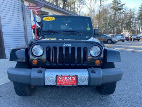 2013 Jeep Wrangler Unlimited for sale at Norm's Used Cars INC. - Trucks By Norm's in Wiscasset ME