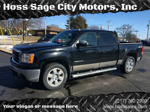 2010 GMC Sierra 1500 for sale at Hoss Sage City Motors, Inc in Monticello IL
