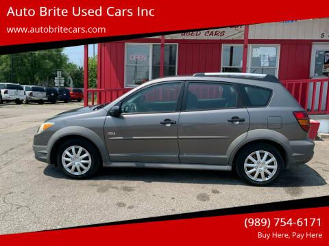 2007 Pontiac Vibe for sale at Auto Brite Used Cars Inc in Saginaw MI