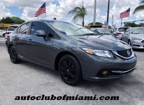 2013 Honda Civic for sale at AUTO CLUB OF MIAMI in Miami FL