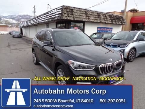 2017 BMW X1 for sale at Autobahn Motors Corp in Bountiful UT
