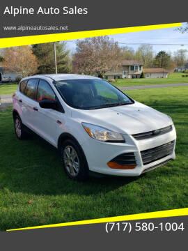 2015 Ford Escape for sale at Alpine Auto Sales in Carlisle PA