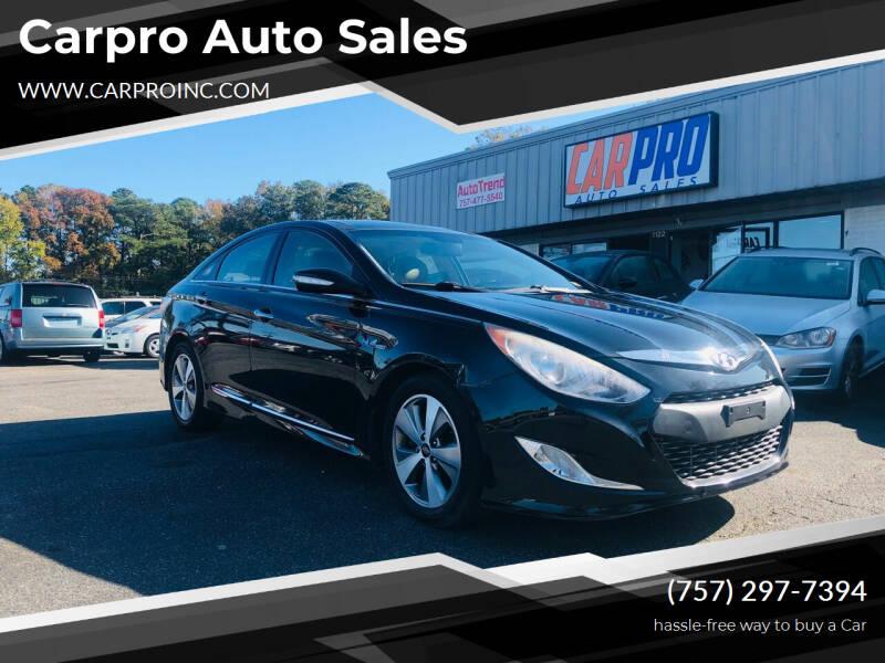 2012 Hyundai Sonata Hybrid for sale at Carpro Auto Sales in Chesapeake VA