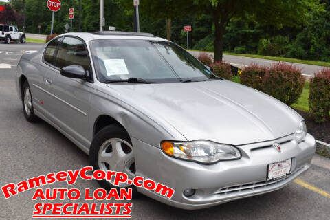 2003 Chevrolet Monte Carlo for sale at Ramsey Corp. in West Milford NJ