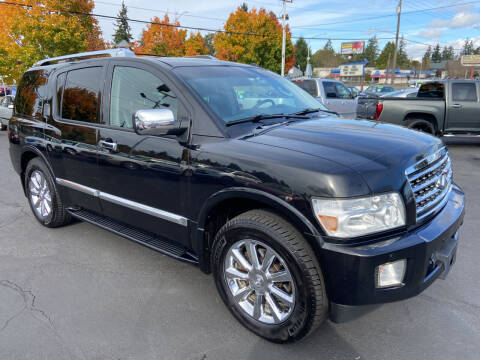 2008 Infiniti QX56 for sale at Pacific Point Auto Sales in Lakewood WA