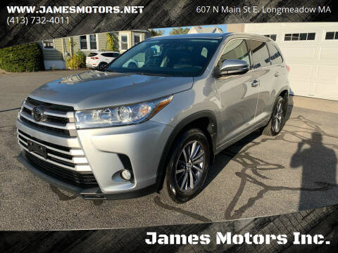 2017 Toyota Highlander for sale at James Motors Inc. in East Longmeadow MA