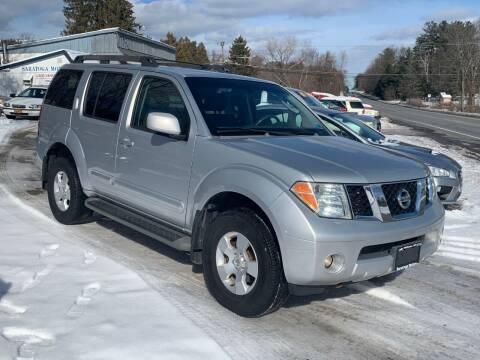 2007 Nissan Pathfinder for sale at Saratoga Motors in Gansevoort NY