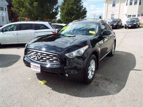2011 Infiniti FX35 for sale at FRIAS AUTO SALES LLC in Lawrence MA