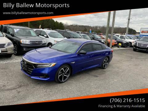 2021 Honda Accord for sale at Billy Ballew Motorsports in Dawsonville GA
