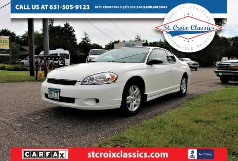 2007 Chevrolet Monte Carlo for sale at St. Croix Classics in Lakeland MN