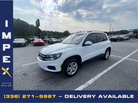 2016 Volkswagen Tiguan for sale at Impex Auto Sales in Greensboro NC