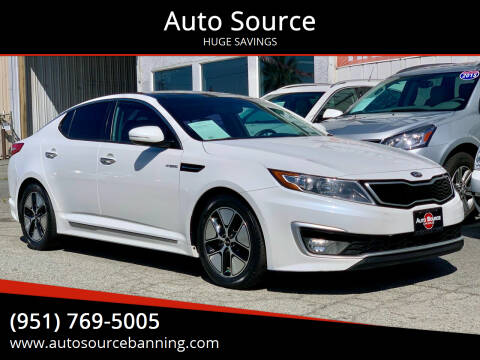 2013 Kia Optima Hybrid for sale at Auto Source in Banning CA