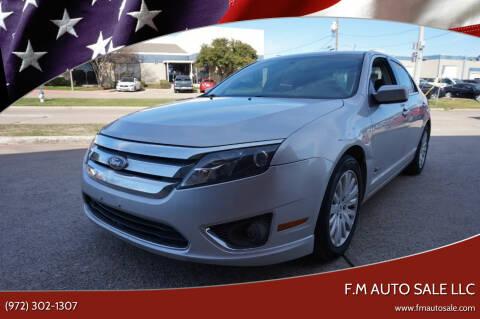2010 Ford Fusion Hybrid for sale at F.M Auto Sale LLC in Dallas TX
