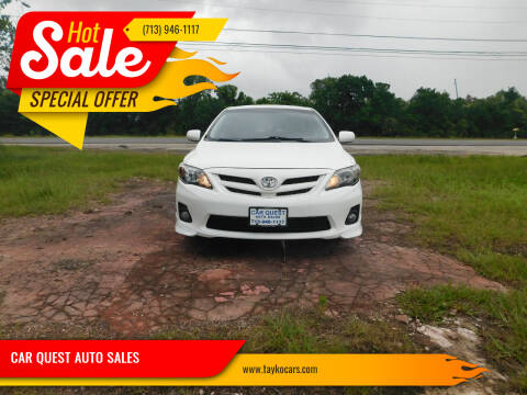 2012 Toyota Corolla for sale at CAR QUEST AUTO SALES in Houston TX