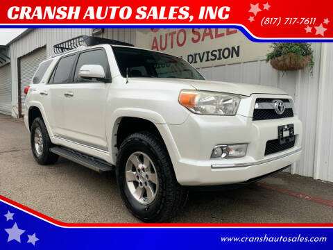 2011 Toyota 4Runner for sale at CRANSH AUTO SALES, INC in Arlington TX