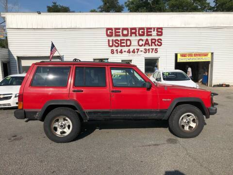 1995 Jeep Cherokee for sale at George's Used Cars Inc in Orbisonia PA