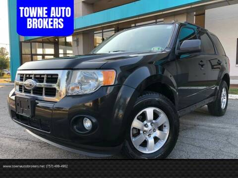 2011 Ford Escape for sale at TOWNE AUTO BROKERS in Virginia Beach VA