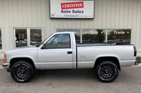 1988 GMC Sierra 1500 for sale at Certified Auto Sales in Des Moines IA
