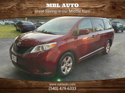 2014 Toyota Sienna for sale at MBL Auto Woodford in Woodford VA