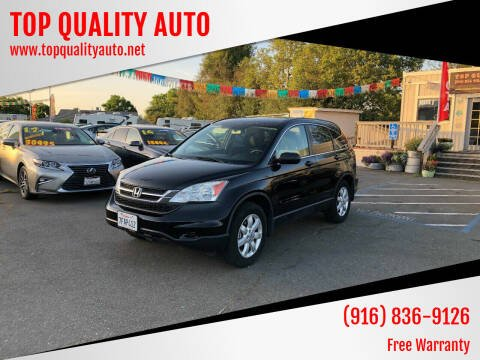 2010 Honda CR-V for sale at TOP QUALITY AUTO in Rancho Cordova CA