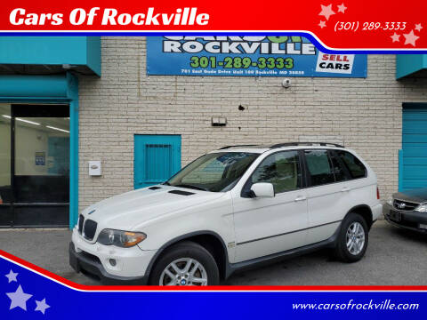2005 BMW X5 for sale at Cars Of Rockville in Rockville MD