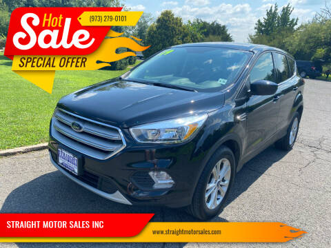 2019 Ford Escape for sale at STRAIGHT MOTOR SALES INC in Paterson NJ