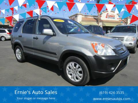 2006 Honda CR-V for sale at Ernie's Auto Sales in Chula Vista CA