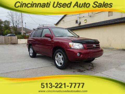 2004 Toyota Highlander for sale at Cincinnati Used Auto Sales in Cincinnati OH