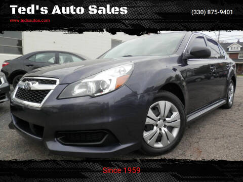 2013 Subaru Legacy for sale at Ted's Auto Sales in Louisville OH