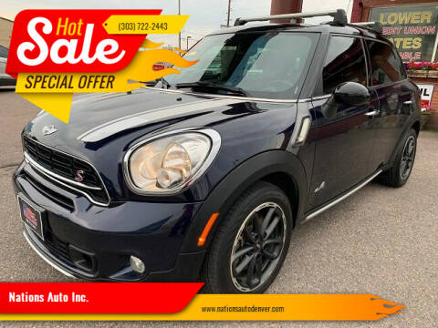 2015 MINI Countryman for sale at Nations Auto Inc. in Denver CO