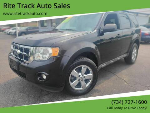 2010 Ford Escape for sale at Rite Track Auto Sales in Wayne MI