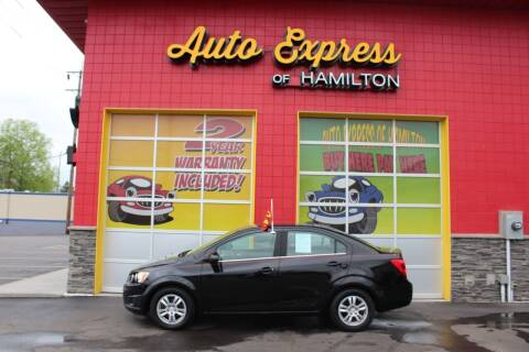 2012 Chevrolet Sonic for sale at AUTO EXPRESS OF HAMILTON LLC in Hamilton OH