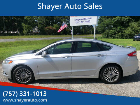 2016 Ford Fusion for sale at Shayer Auto Sales in Cape Charles VA