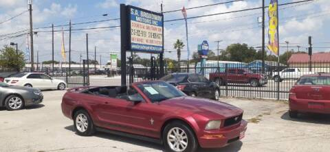 2006 Ford Mustang for sale at S.A. BROADWAY MOTORS INC in San Antonio TX