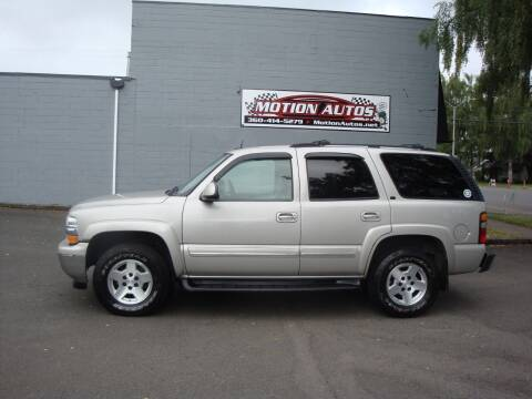 2005 Chevrolet Tahoe for sale at Motion Autos in Longview WA