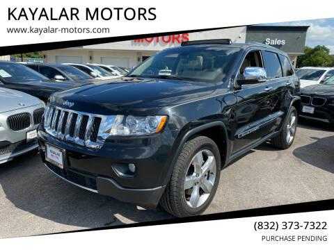 2013 Jeep Grand Cherokee for sale at KAYALAR MOTORS in Houston TX
