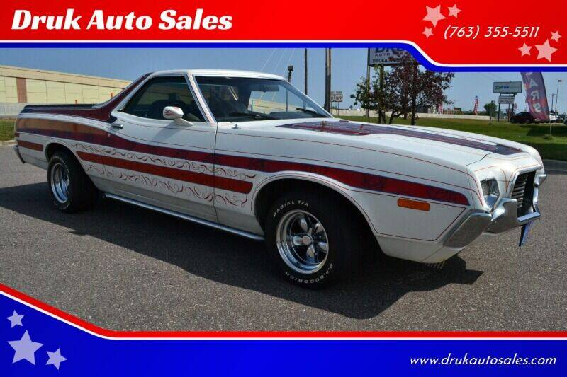 1972 Ford Ranchero for sale at Druk Auto Sales in Ramsey MN